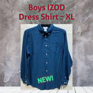 NWT | Boys IZOD Long Sleeve Dress Shirt XL-18/20